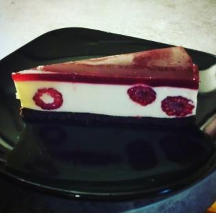 Raspberry & White Choc Cheesecake