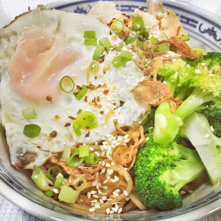 Thai Peanut Noodles with Chicken and Broccoli
