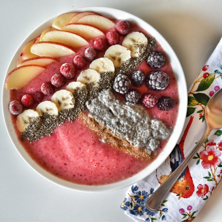 Chia Pudding & Cherry Berry Bliss Smoothie Bowl